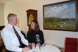 Göran Pettersson och Jessica Polfjärd